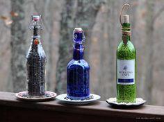 DIY Wine Bottle Bird-Feeders tutorial