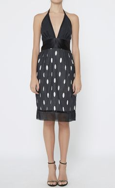 Catherine Malandrino Black And Ivory Dress