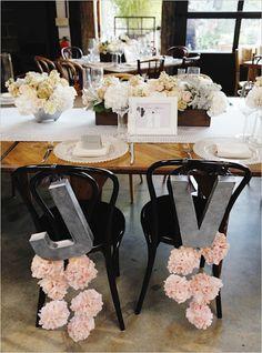 Décoration chaises des mariés