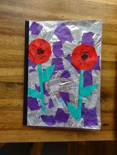 Ma petite maternelle : couverture de cahier coquelicots