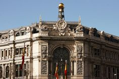 Banco de España. Plaza Cibeles. Madrid by Carlos Viñas, via Flickr (madridlaciudad). Fantastic pictures of Madrid. I'll go here whenever I need to cry about how much I miss Madrid. It's like a virtual tour.