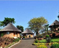 Mambedi Country Lodge and Conference Centre Round House Plans, Small House Plans, Mud House, Tiny House Cabin, Village House Design, Village Houses, African Hut, South African Homes, Bamboo House Design