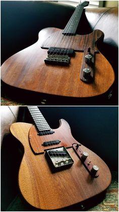 Custom Built by Guitars_Addiction USA. Mahogany Twins set telecaster (P90 Esquire & Nashville Power T)