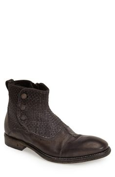 John Varvatos Collection 'Fleetwood' Leather Zip Boot (Men) available at #Nordstrom