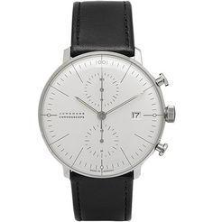 Junghans Max Bill Chronograph Stainless Steel and Leather Watch | MR PORTER