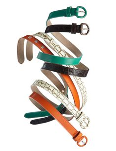 Proenza Schouler Spring 2012  Runway belts in croc, orange, sea foam and black