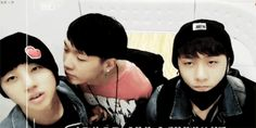 Cute bobby+ jinhwan and donghyuk (he looks so done with them)