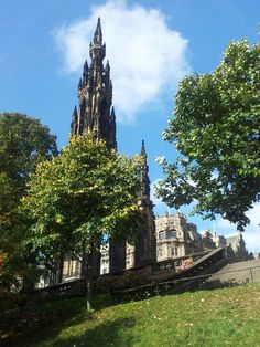 The Scott Monument - climb 287 steps to the top for a fantastic view over Edinburgh.