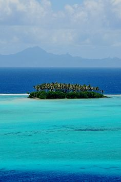 The brilliant lagoon of Raiatea, French Polynesia