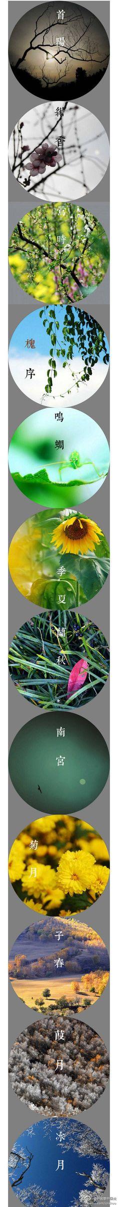 農曆十二個月之別稱