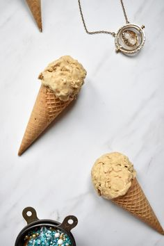Want to feel like you're eating dessert in the Great Hall at Hogwarts! Look no further than this delicious cinnamon bread ice cream! Bonus: it's dairy-free!