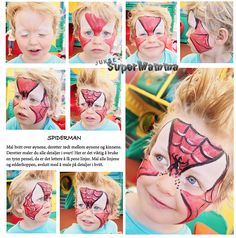 { Halloween - trinn for trinn ansiktsmaling Spiderman } - ToneroseDesign Halloween Sweets, Carnival, Face, Painting, Carnavals, Painting Art, The Face, Paintings, Faces