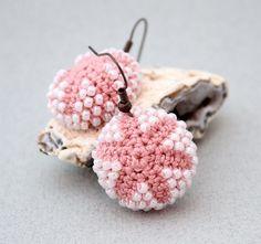 Bead + #crochet earrings by Julia Kolbaskina