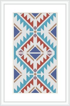 Native American Design Cross Stitch Pattern Geometric pattern Tribal cross…