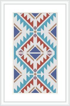 Native American Design Cross Stitch Pattern Geometric pattern Tribal cross stitch Modern cross stitch pattern Navajo Indian  X071