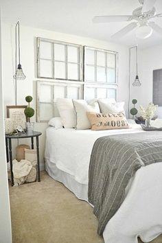 faire une tête de lit soi-même, tete de lit originale en vieilles fenêtres