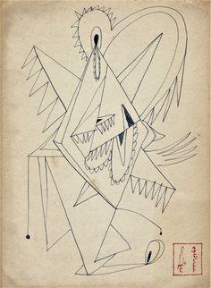 Drawing , 1958 ,Kansuke Yamamoto, ©Toshio Yamamoto.
