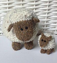 Moss the Sheep toy knitting pattern