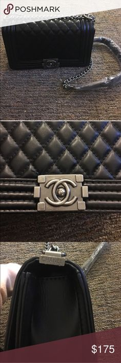 Le Boy Bag | Crossbody | Chanel Medium sized. Price reflects authenticity, Le boy bags goes for $3,000 and up and this bag is $175. New, never used. The CC are a little slanted. Make an offer 😊 chanel Bags Crossbody Bags