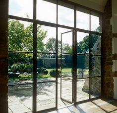 Oxfordshire Barn Conversion by John Minshaw photo© Lucas Allen 03 Barn Windows, Steel Doors And Windows, Metal Doors, Metal Barn, Crittal Doors, Crittall Windows, Barn Renovation, Aluminium Windows, House Extensions