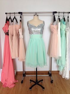 Hey, I found this really awesome Etsy listing at https://www.etsy.com/listing/213781954/short-prom-dress-spaghetti-straps