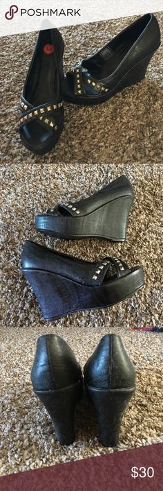 T.U.K. Studded Platforms brand new. never worn, only tried on after i ordered them. a bit too big for my feet, just never ended up returning them. don't have the original box, they've just been sitting in my closet T.U.K Shoes