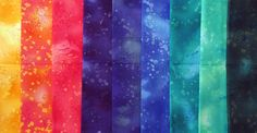 Impressions    Benartex   Rainbow variety  9 by TheKittyQuilter, $18.00