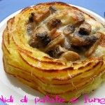 Nidi di patate con funghi e scamorza