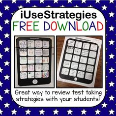 Test Strategies FREEBIE!!!!!! Fun way to review test taking strategies with your students and it's FREE!