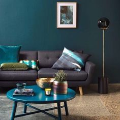 Check out this rich turquoise set up by @yourhomeandgarden featuring our NORD Coffee Table from @monmelbourne and the Luna Planter from @general_eclectic . Perfect Autumn/winter hues  . Styling by @samsmithdesign  @catherinehills  Pic by @whfenwick
