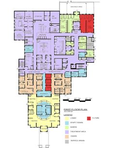 NorthStar VETS (Veterinary Emergency Trauma and Specialty Center) in Robbinsville, N. Hospital Floor Plan, Hospital Plans, Emergency Hospital, Hospital Architecture, Architecture Plan, Pet Clinic, Animal Clinic, Pet Hotel, Hospital Design