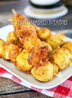 Deep Fried Mashed Potatoes on kleinworthco.com #ad #simplypotatoes