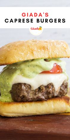 These caprese burgers are a fun update to traditional cheeseburgers. Homemade pesto keeps these burger patties super flavorful and moist, and offers an Italian twist on the traditional American BBQ fare.