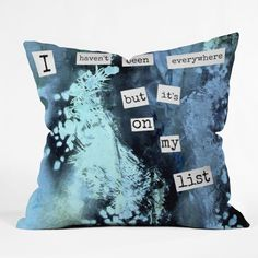 Deb Haugen My List Throw Pillow   DENY Designs Home Accessories