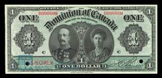 Dominion of Canada Dollar, 1911 - Image courtesy of the Bank of Canada | #banknote #money