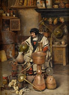 The Alchemist - Joseph Leopold Ratinckx