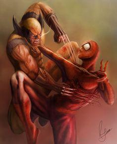 Wolverine vs Spidey -Rodrigo Garcia