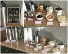 winter onederland food | We had a hot cocoa bar, lots of food and treats and some party games ...