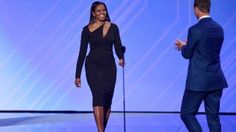 Michelle Obama is one of the most fashionable first ladies in history and that hasn& changed just because she& no longer in the White House. Eunice Kennedy Shriver, The Espys, Espy Awards, First Black President, Black Presidents, Athleisure Wear, Cropped Skinny Jeans, Michelle Obama, Celebrity Style
