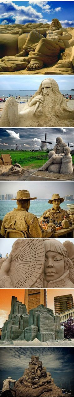 Esculturas de arena asombrosas