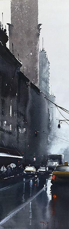 Rainy 42nd by Daniel Marshall ~ 7.5 x 22