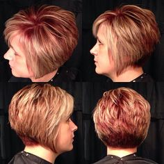 Loving This Blonde, Textured Bob By Styl Freshairstylist - Hair Beauty - maallure Short Stacked Bob Haircuts, Cute Hairstyles For Short Hair, Hairstyles Haircuts, Short Hair With Layers, Short Hair Cuts, Short Hair Styles, Haircut And Color, Hair Dos, New Hair