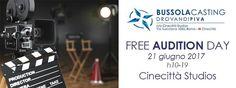 Free Audition Day del 21 Giugno a Cinecittà Studios