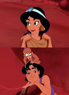 So süß :) Ich liebe Aladdin ♥ - Cinematic Disney - Disney Disney Jasmine, Disney Princesa Jasmine, Jasmine E Aladdin, Disney Nerd, Disney Girls, Disney Love, Disney Magic, Disney Princess, Disney E Dreamworks
