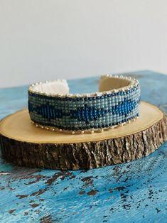 Beaded Cuff Bracelet Bohemian seed bead bracelet Beaded cuff | Etsy