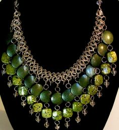 bauble necklace statement necklace bib necklace by NezDesigns, $30.00