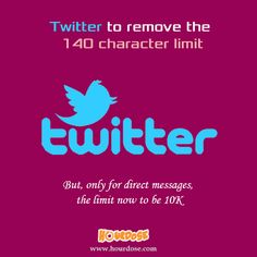 Twitter to remove the 140 character limit