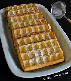 Gaufres... au four Thermomix Desserts, Crumpets, Beignets, Biscotti, Muffins, Deserts, Oven, Breakfast, Recipes