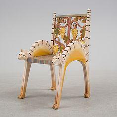 GÉRARD RIGOT, stol, Frankrike, signerad och daterad -92.