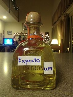 Expecto Patronum. Harry Potter humor.  HA!  Magic in a bottle!  ;)